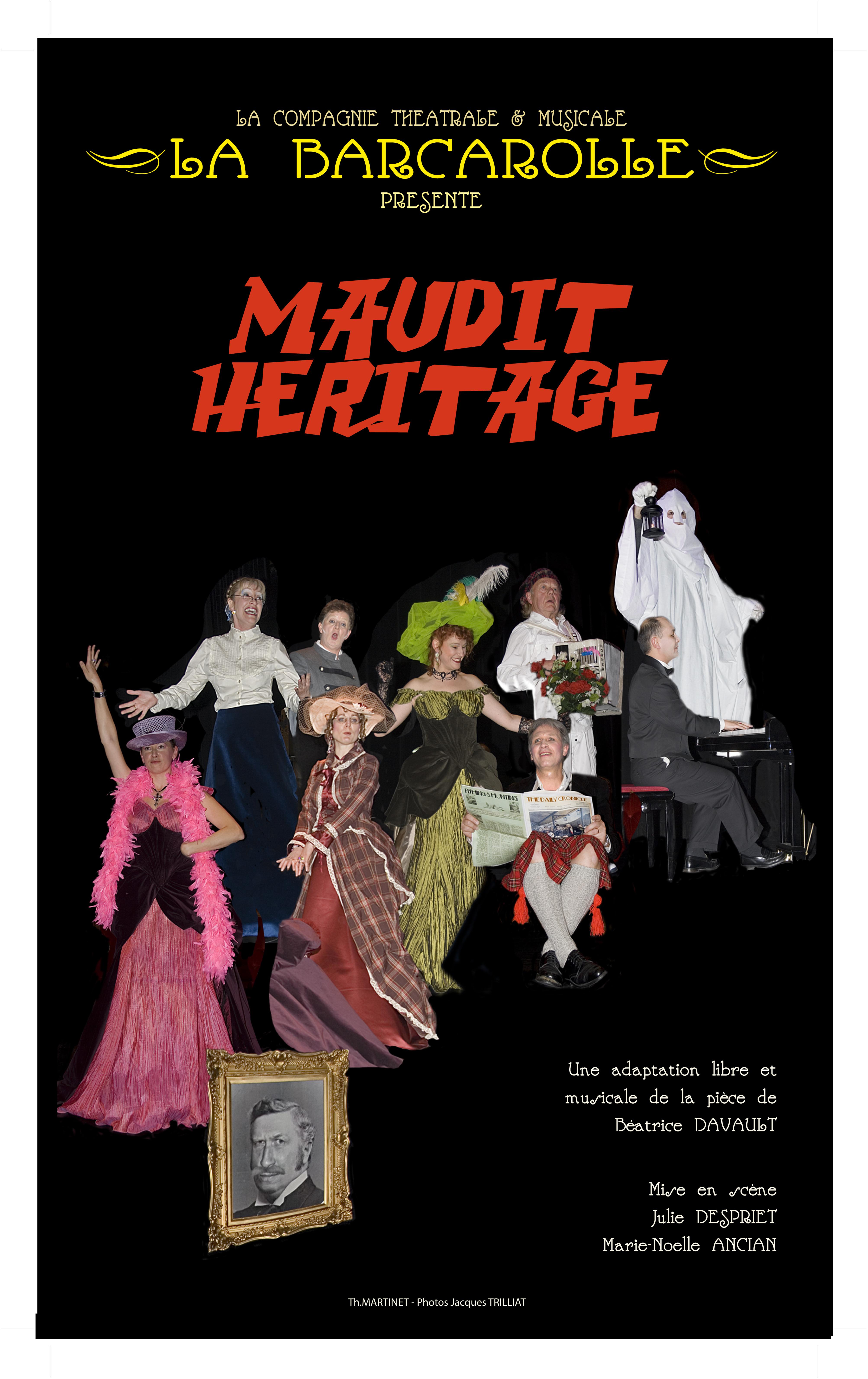 Photo compagnie la barcarolle bellegarde sur valserine pièce de théâtre maudit héritage affiche