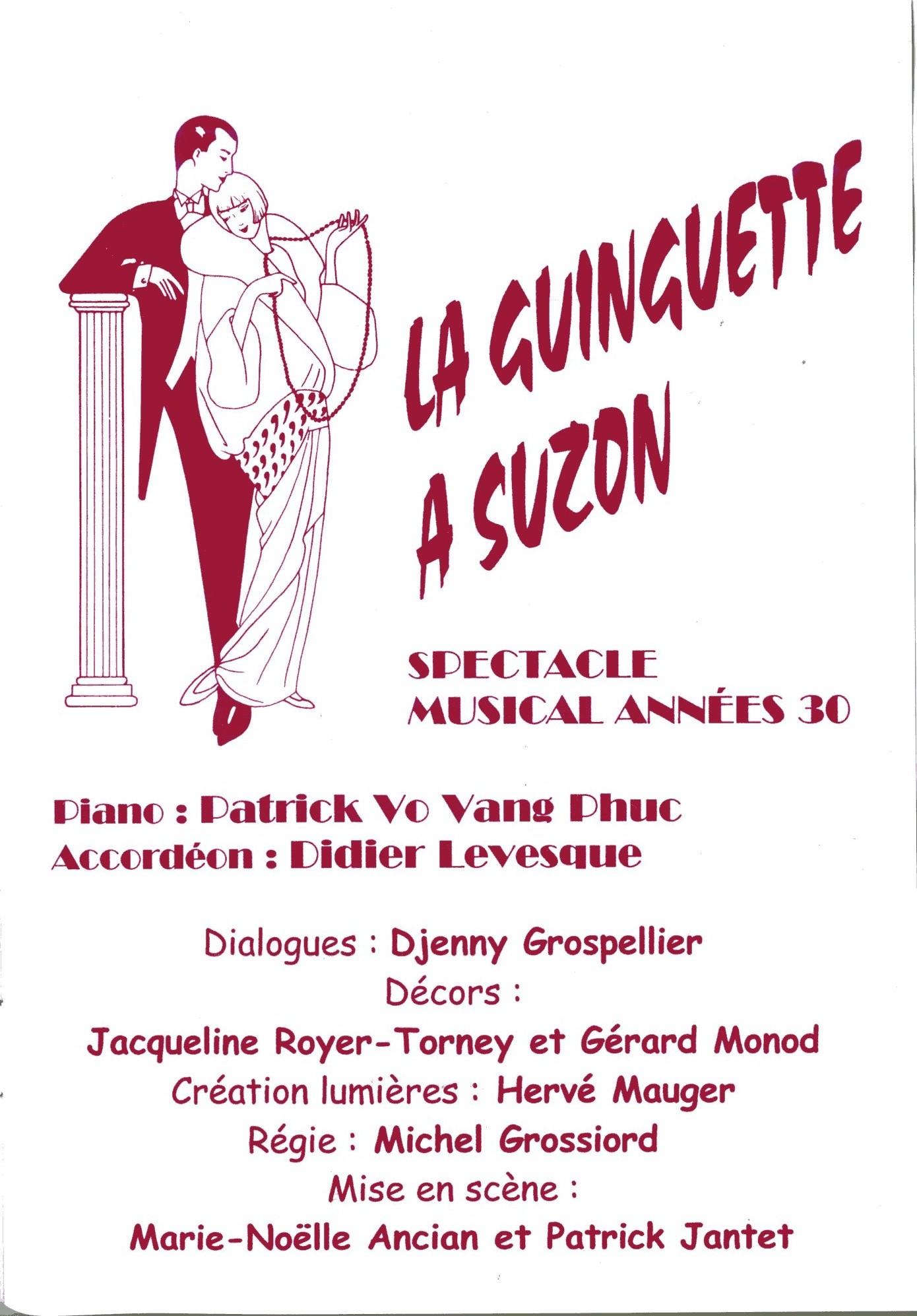 La Guiguette à Suzon affiche compagnie la barcarolle